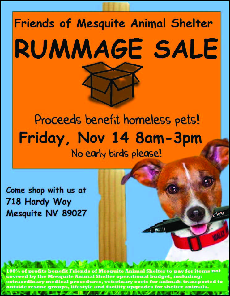 Animal Shelter needs items for Rummage Sale