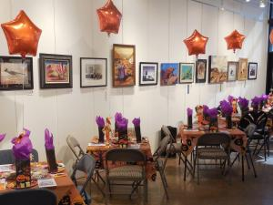 The Mesquite Fine Arts Gallery was dressed with festive fun