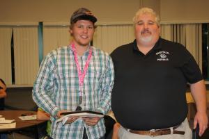 Arden Bundy with Coach Yori Ludvigson.