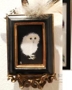 Ooooh, says Judith Hetem.  Is that oil or owl painting with feathers...
