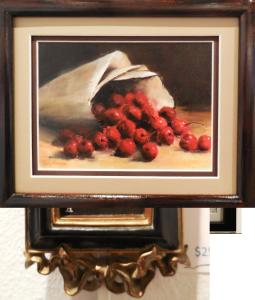 Spilled Cherries, oil, by VVAA member Gini Hansen