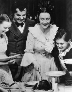 1. A Christmas Carol 1938 with the Lockharts June (L), Gene, Kathleen, and Terry Kilburn Provided by June Lockhart