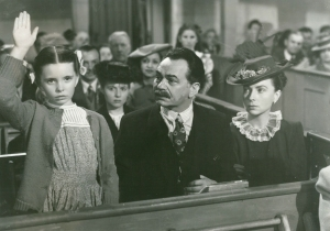 2. Still from 1945s Our Grapes Have Tender Vines, with screen parents Edward G. Robinson and Agnes Moorehead