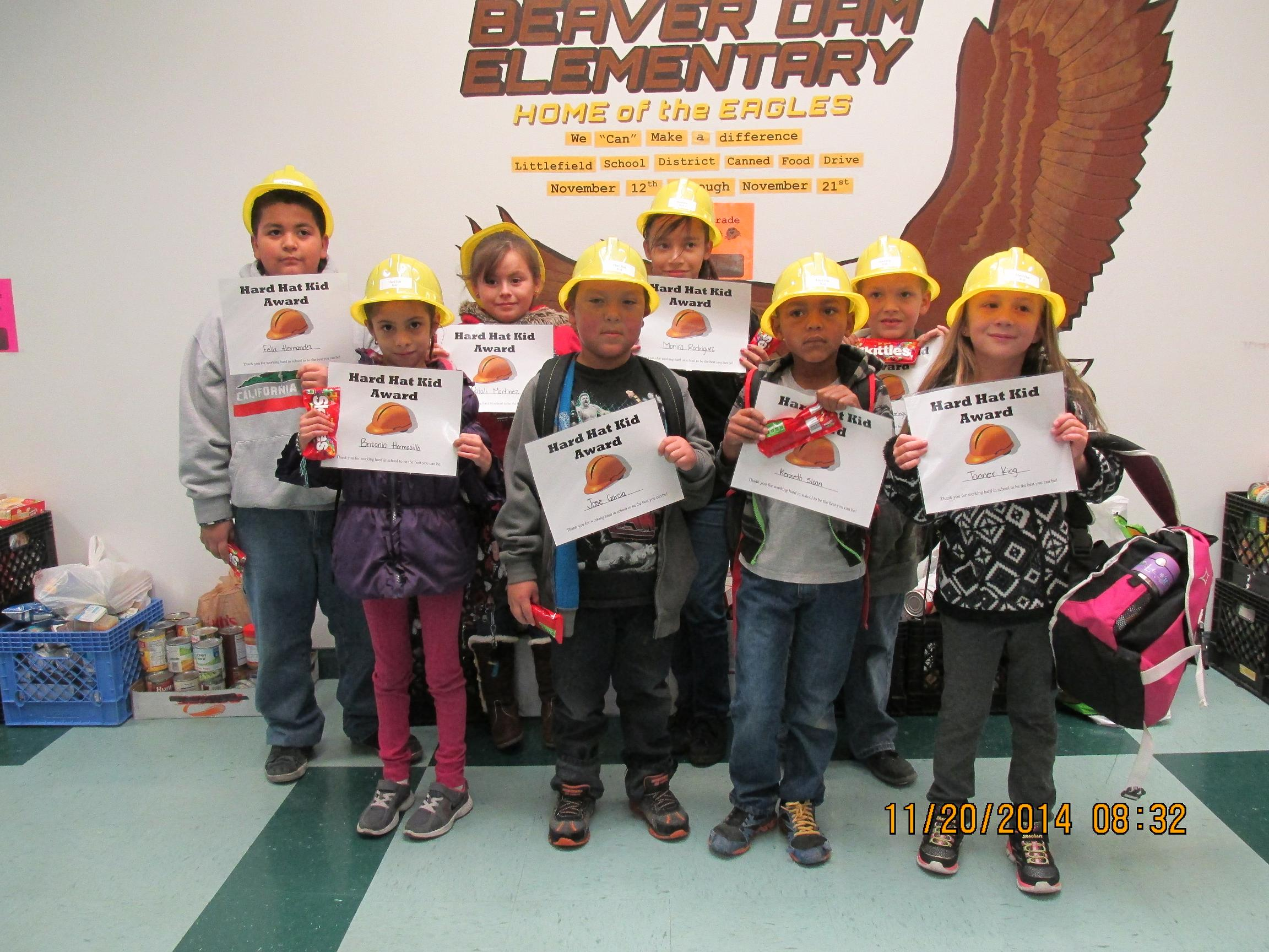 Hard Hat Heroes and Pop Run at Beaver Dam Elementary School