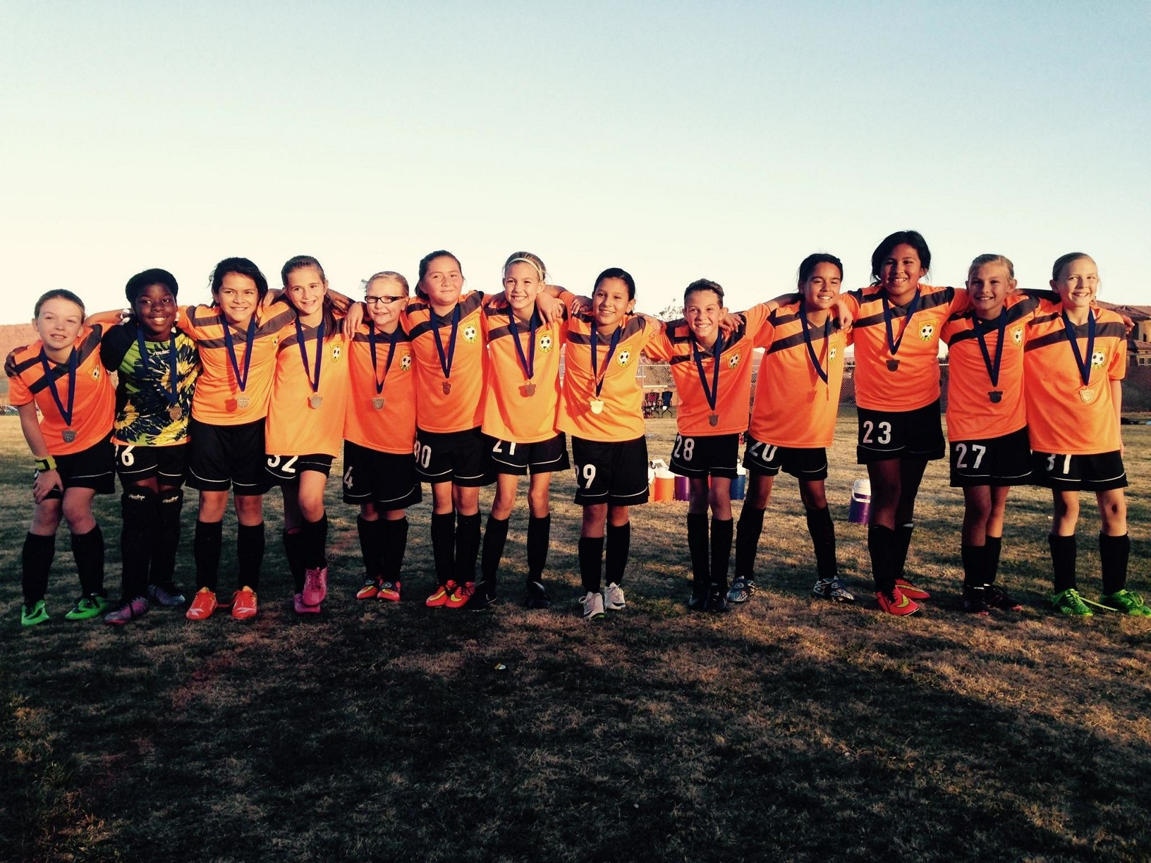 FC Mesquite Crush U11 Girls Soccer team crowned Dixie Invitational Champions