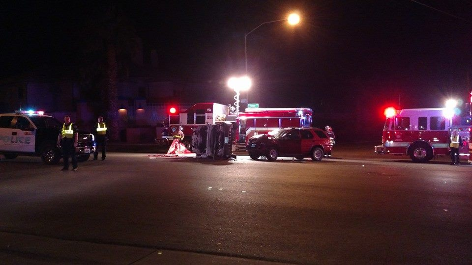 Major accident sends two to hospital