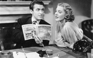 1. Publicity still for Mr Smith Goes to Washington with Jimmy Stewart and Jean Arthur