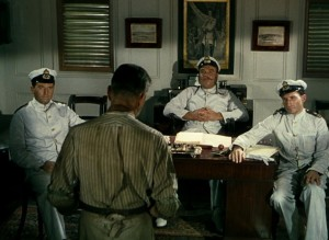2. Pubicity still from The African Queen. Bikel (left) with Bogart in foreground