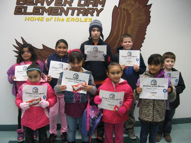 Caring and Hard Working Students Honored