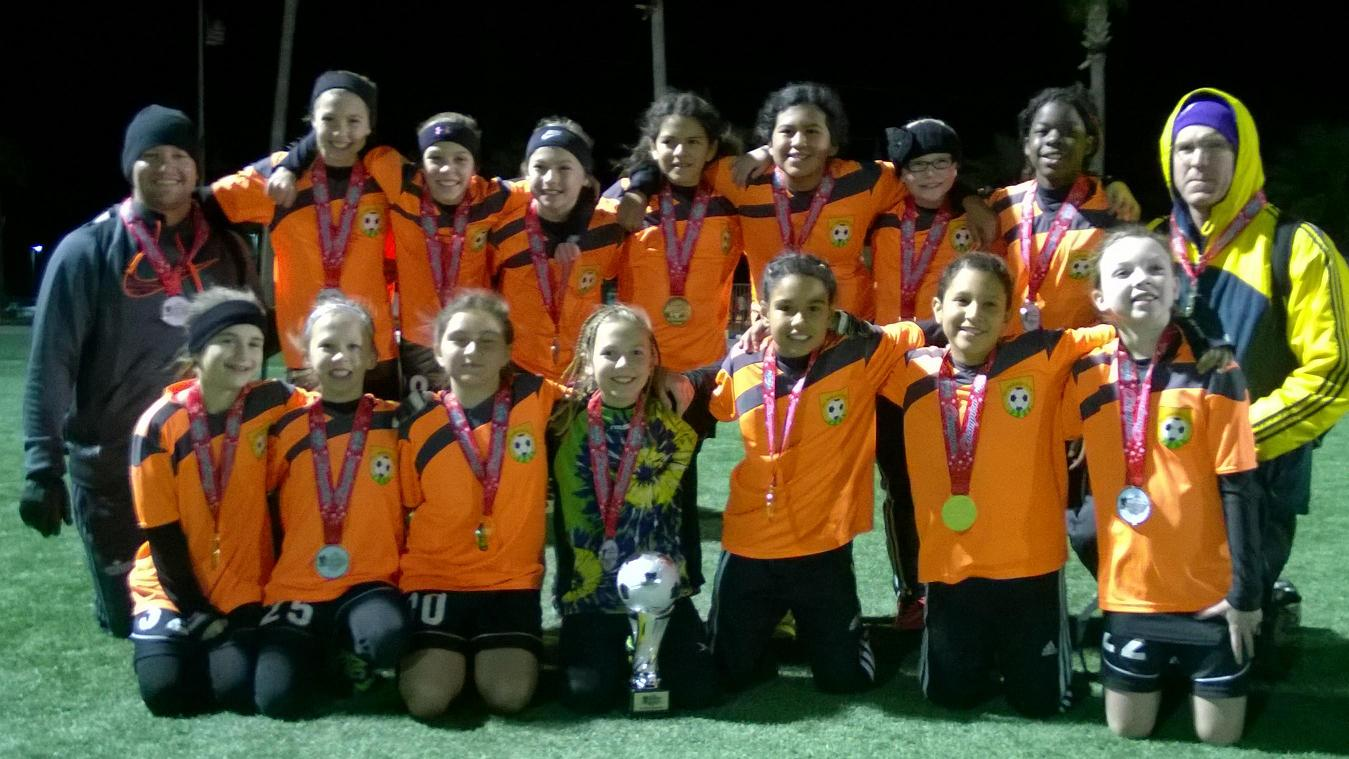 FC Mesquite CRUSH Girls claim their 2nd tournament championship in 2 months