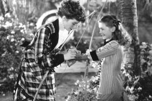 A Woman Rebels 1936 Katharine Hepburn and Marilyn Knowlden - RKO Studios