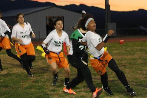 Gridiron Gals break losing streak stop Rattlers 20-13