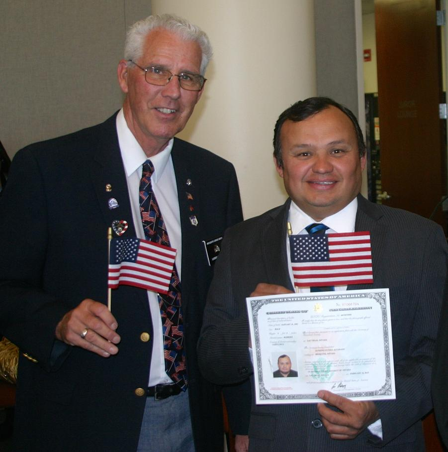 Mesquite Elks Participate in Naturalization Ceremonies