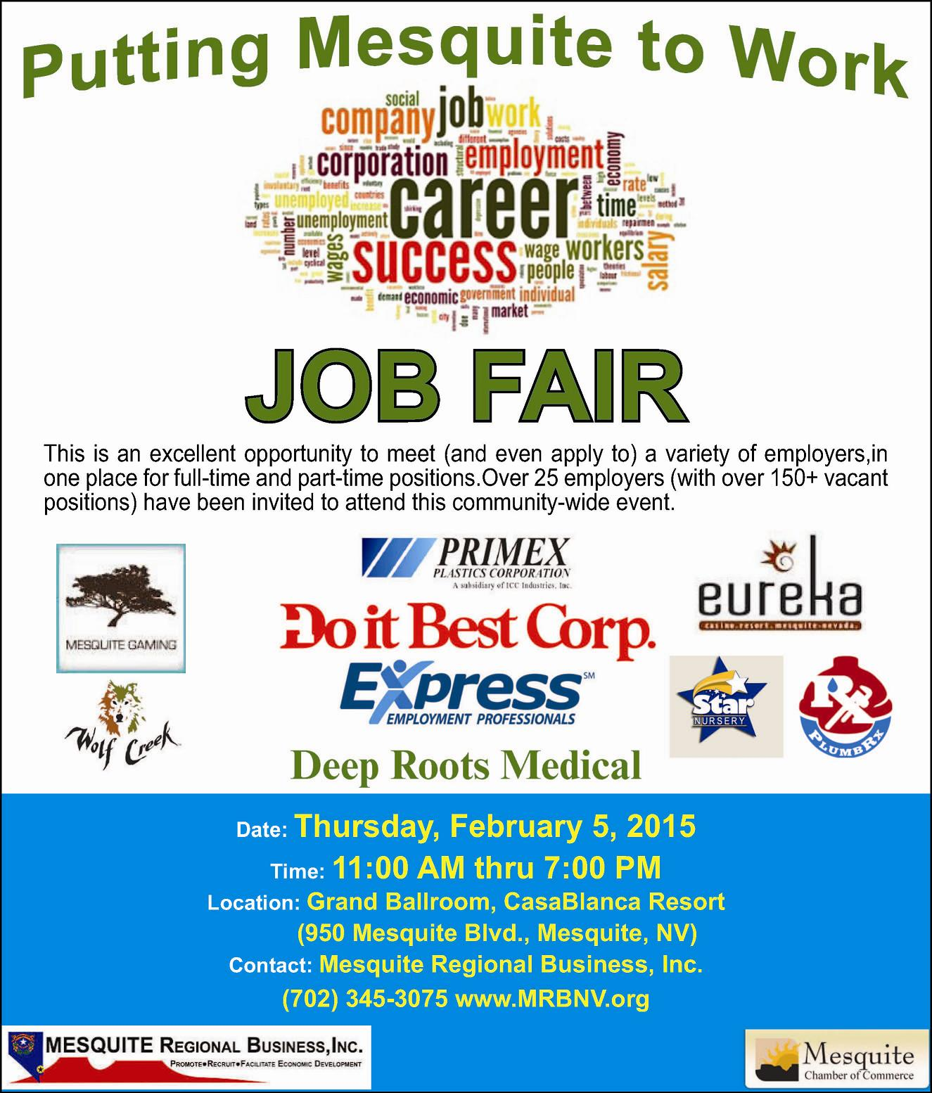 Job Fair at CasaBlanca TODAY!