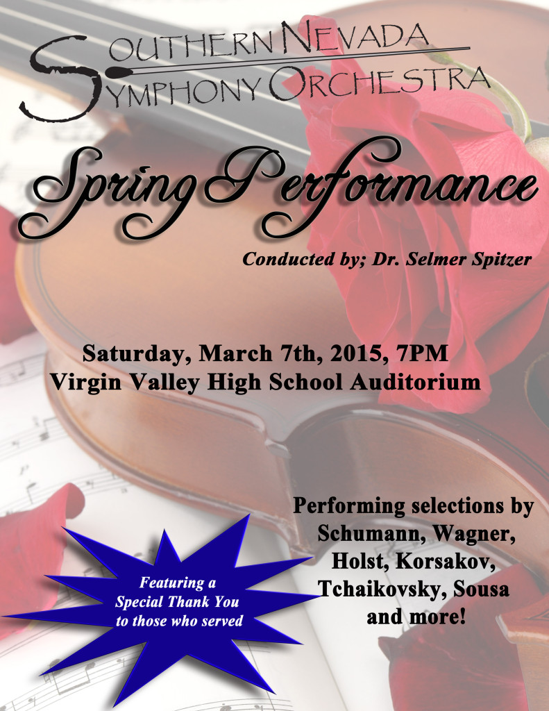 SNSO March Concert Program Poster