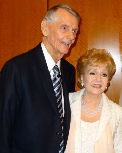 Debbie Reynolds and Carleton Carpenter reunite at Cinecon 48 in 2012. Permission to use from Matthew Rettenmund (boyculture.com)