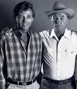 2. Chris and Robert Mitchum in 1985