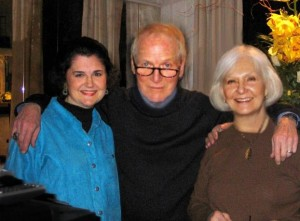 Joan Kramer with Paul Newman and Joanne Woodward at a dinner party New York, 2005