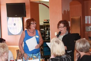Outgoing President Jan Martin (left) with founder Bobbie Green (right)