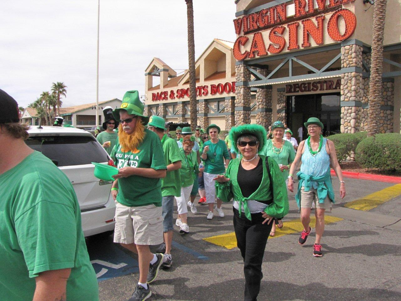 Several businesses go green for St. Patty's Day