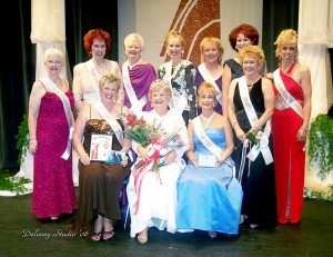 The first full court of the pageant, for Ms. Senior Mesquite 2006. Photo courtesy of Delaney Studio.
