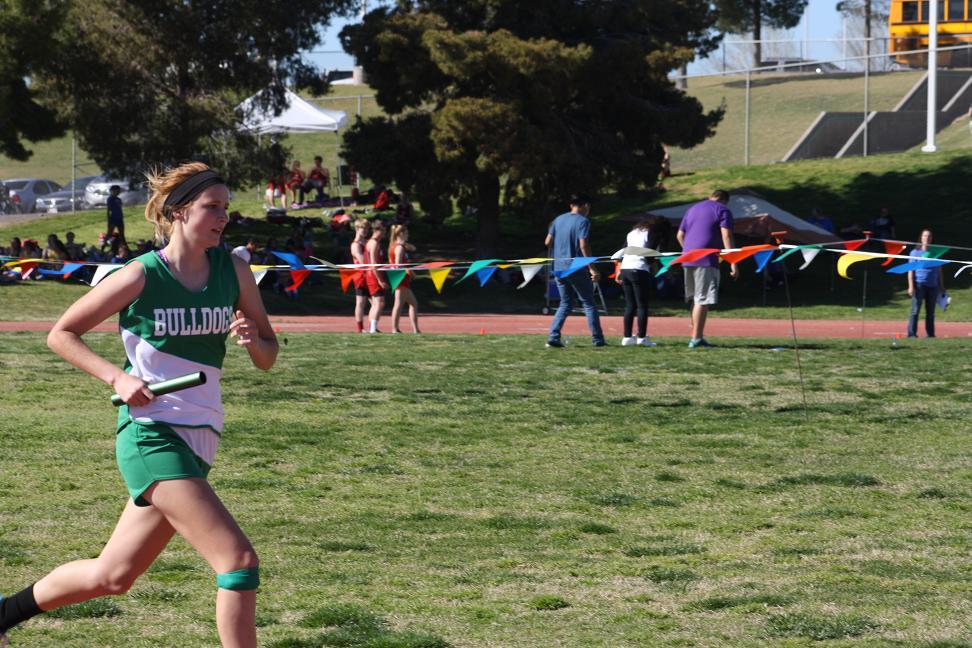 Bulldog boys and girls track teams place fourth at Faith Lutheran meet