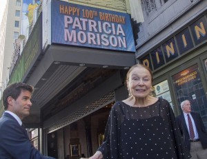 Patricia Morison celebrates her 100th birthday at the historic Pantages Theatre in Hollywood