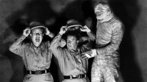 Scene from Abbott and Costello Meet the Mummy (1955)