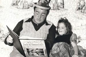Lou with daughter Chris around 1950.