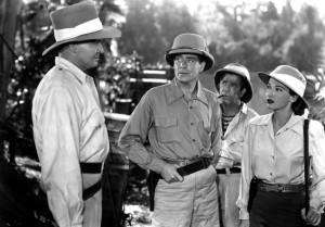 Patricia Morison looks at Barton MacLane in Tarzan and the Huntress - 1947
