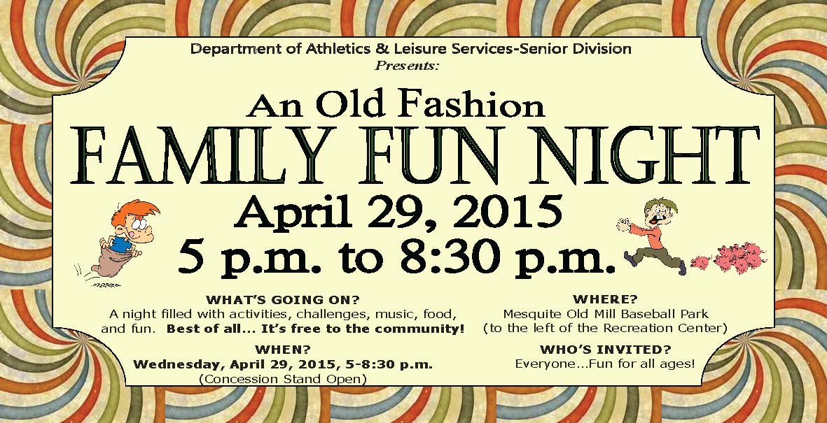 Wednesday's Family Fun Night kicks off 31st Annual Mesquite Days