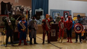"""Several real superheroes were in attendance at this year's """"Super Hero"""" Day Camp for local Cub Scouts. Submitted photo."""