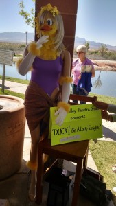 The Virgin Valley Theatre Group's entry for the Duck Around Town contest one first place at the Ducky Derby last Saturday. Photo by Stephanie Frehner.
