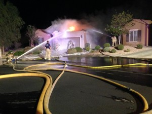 This was the Bull Whip Point fire on August 31, 2014 that the simulation was based from. The two residents of the home escaped with their lives that night thanks to a neighbor who came home late from Las Vegas. File photo.