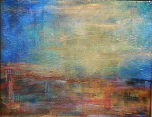 Judy Heusner's abstract teams with A Webster's poem, Hope