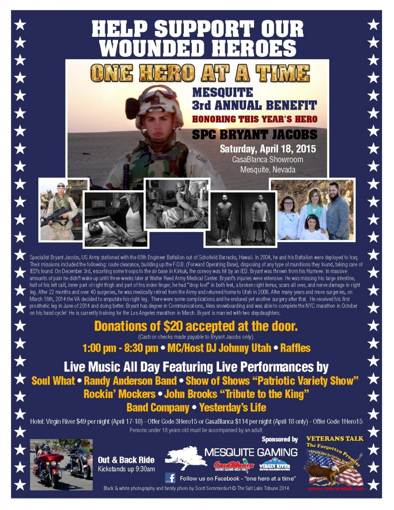 One Hero at a Time 2015 Bands