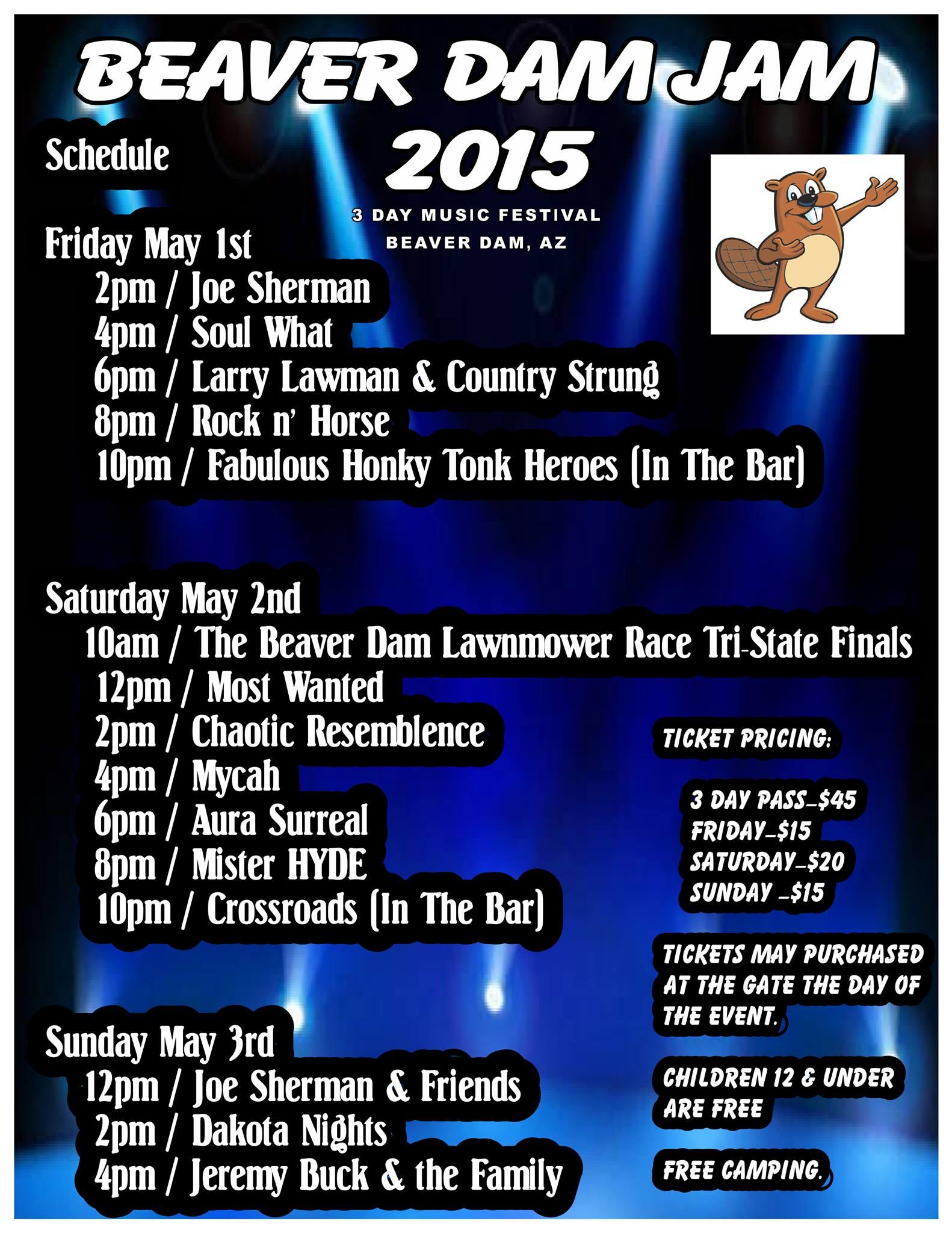 Beaver Dam Jam begins Friday