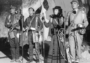 Journey to the Center of the Earth - 1959 - (L to R) Peter Ronson, Pat Boone, Arlene Dahl and James Mason