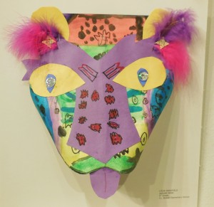Lydia Wakefield from JL Bowler trimmed her Jaguar Mask with fancy feathers