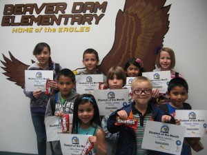 Students of the Month: back row left to right are Chantal Castillo, Jacob Dominguez, Arabelly Castillo and Shyanne Pierce. Middle row is Juan Santos and Danna Lindberg. Front Row is  Dalia Ruvalcaba, Benito Warren and Alexander Beltran.