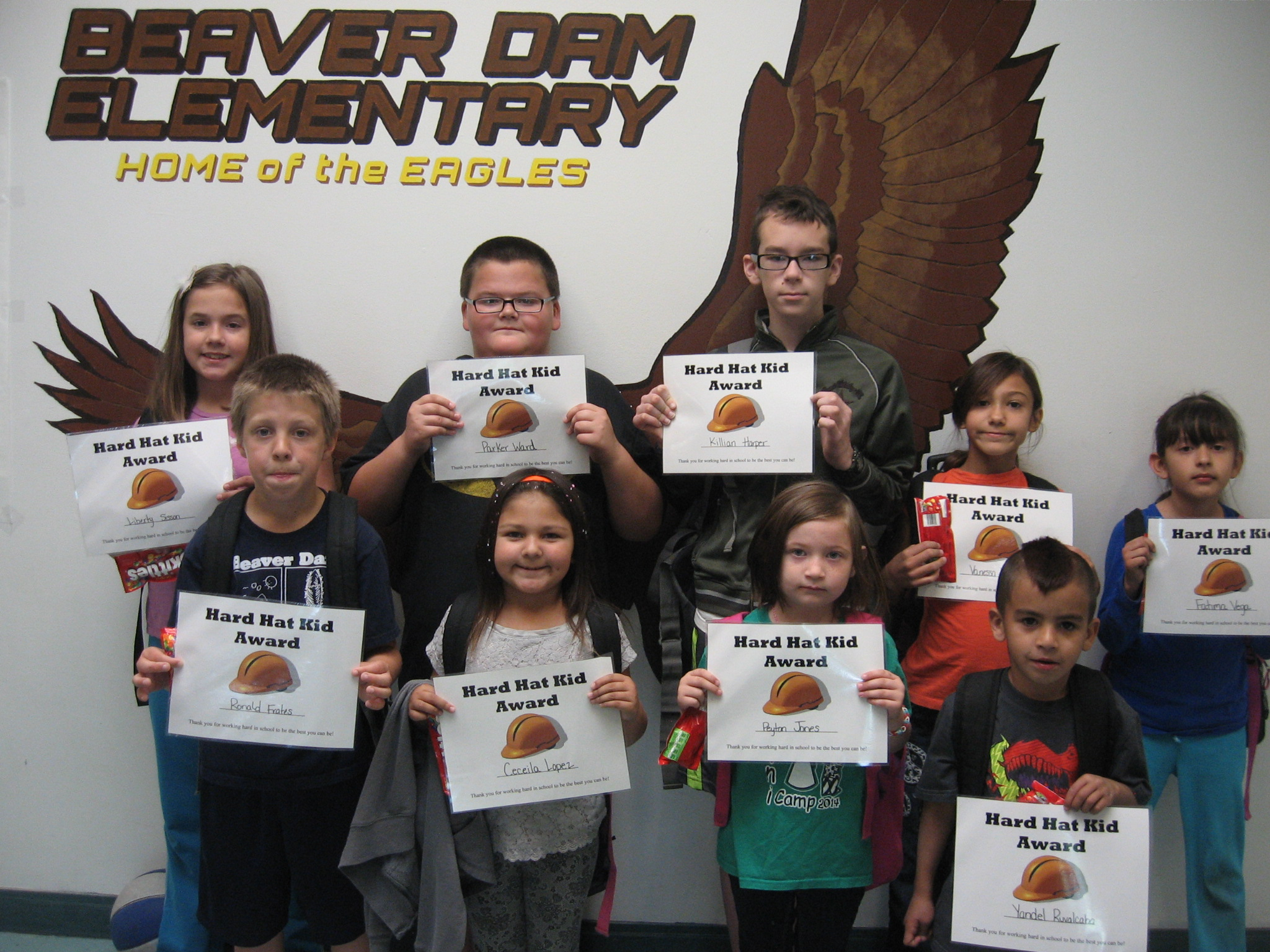 Hard Hats and Students of the Month