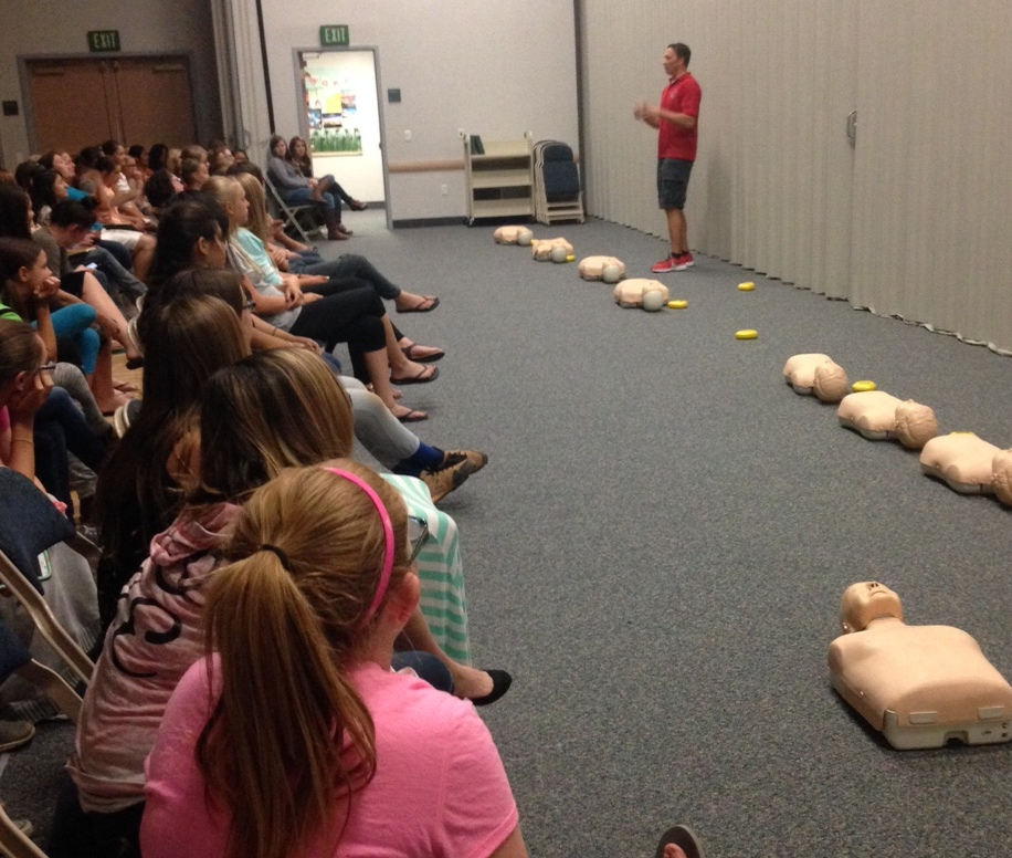 Young Women attend first-aid camp