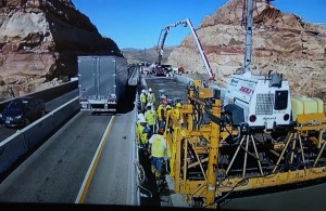Bridge repairs currently underway.