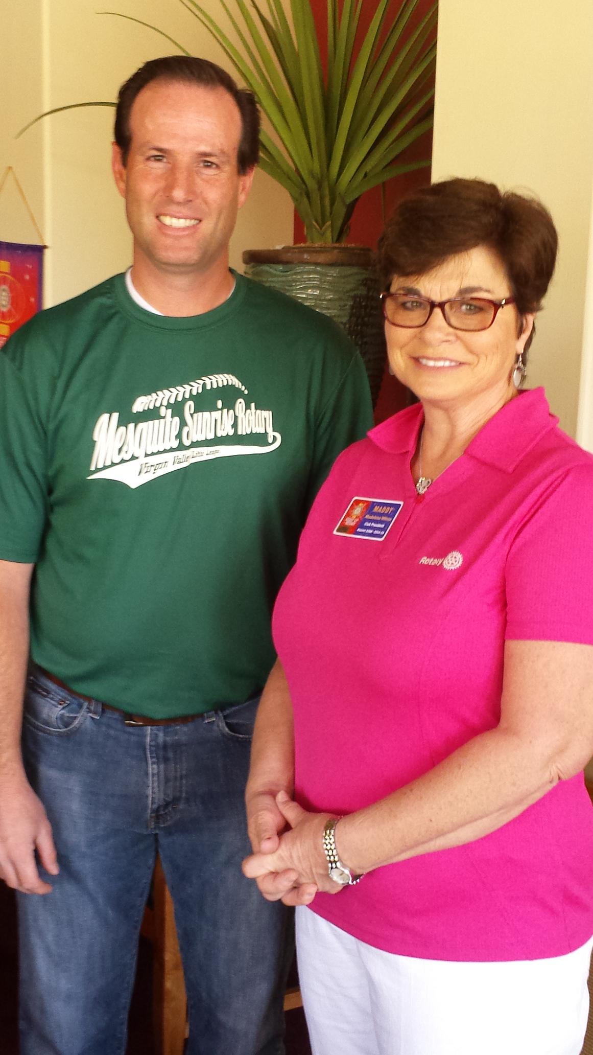 Little League Coach Speaks To Sunrise Rotary Club Members