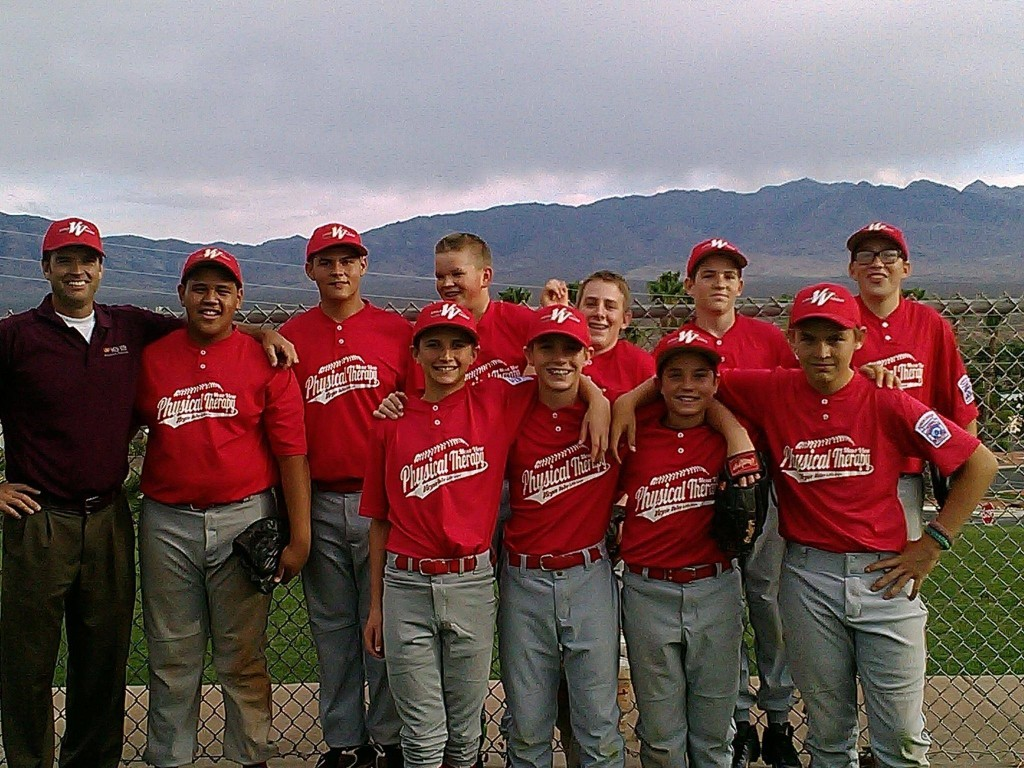Mesa View Physical Therapy, who defeated Virgin River Hotel & Casino 11-6 and are the 2015 Virgin Valley Little League Junior Division Baseball Champions. Photo courtesy of VVLL Facebook.