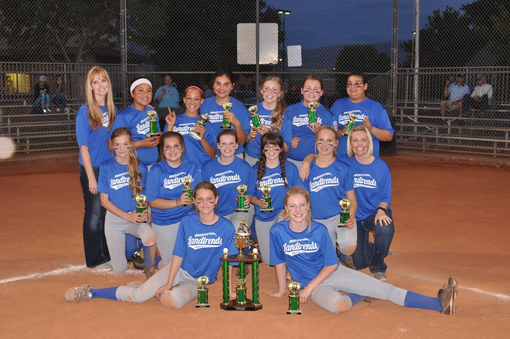 Landtrends, who defeated Casablanca Hotel & Casino 25-8 and are the 2015 Virgin Valley Little League Junior Division Softball Champions. Photo courtesy of VVLL Facebook.