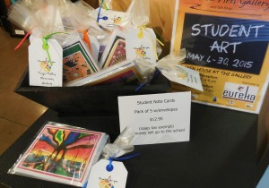 Notecards created by VVES students are on sale in the Mesquite Fine Arts Gift Shop.