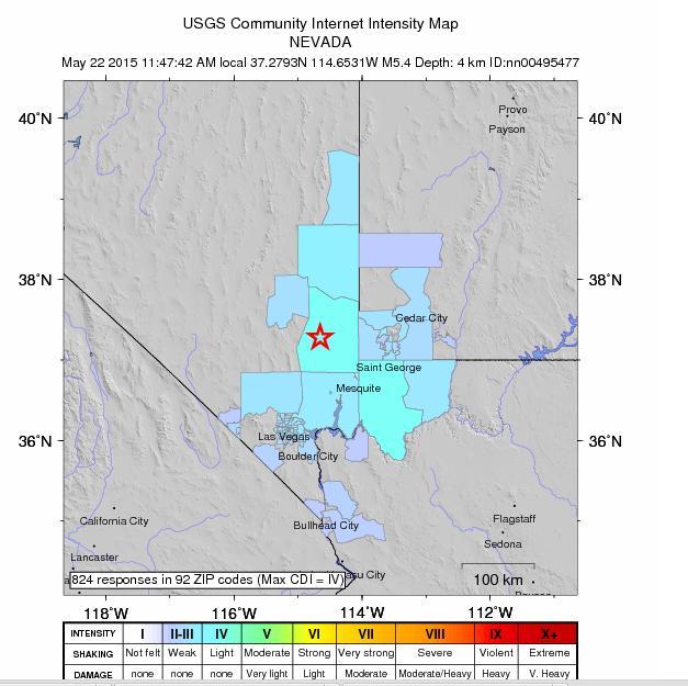 Earthquake rocks Mesquite ???