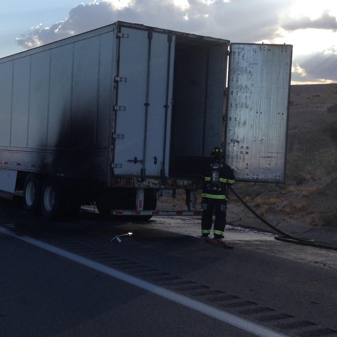 Firefighters Make Quick Work of Semi Fire