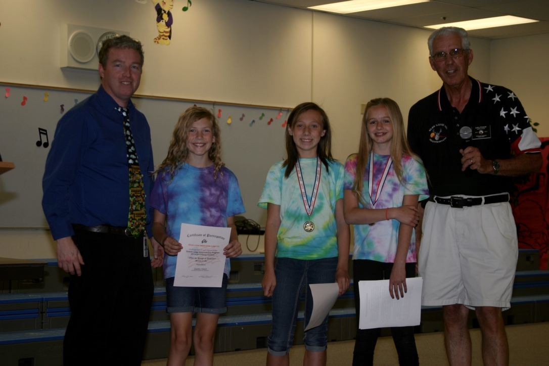 Mesquite Elks Recognize Americanism Essay Contest Winners
